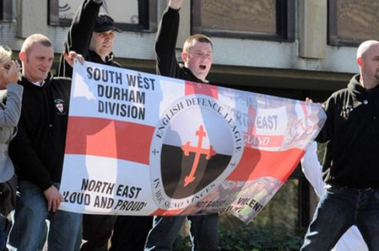EDL members outside Teesside Magistrates Court
