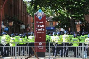 EDL protest in Walsall