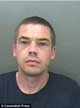 Michael McQueenie (pictured) has been jailed for more than 11 years for raping the 14-year-old girl, who has learning difficulties and is partially blind