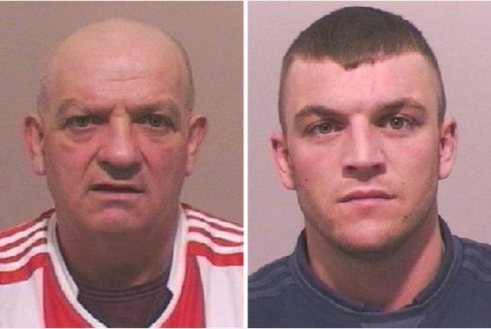 John Boyes, 54, and Thomas Allen, 30, pled guilty to violent disorder