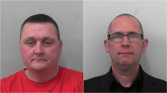 Kevin Crehan (left) and Mark Bennett were part of a group that targeted the mosque in January