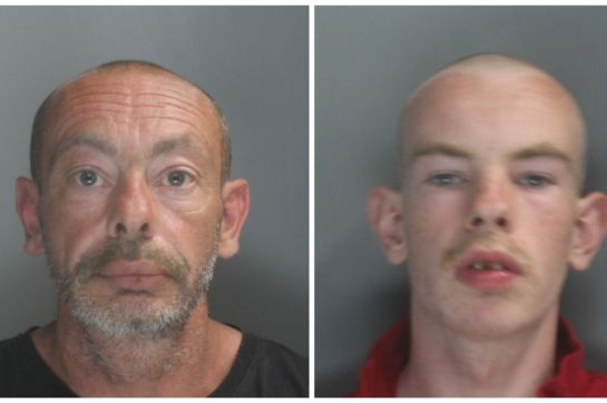 Gregory Hawkshaw (left) and son Danny Hawkshaw (right) admitted burgling 12 churches across Southport and West Lancashire