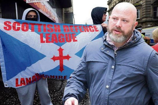 SDL supporter Andrew Jenkinson lashed out at an anti-racist campaigner (Image: LESLEY DONALD/SWNS)