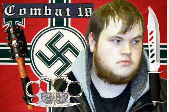 Neo-Nazi Connor Ward was caught with knuckle dusters, knives, metal bars, ball bearings and rocket tubes