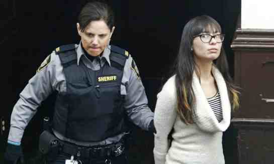 Lindsay Souvannarath arrives at court in Halifax, Nova Scotia, Canada, on 6 March 2015. Photograph: Darren Pittman/Reuters