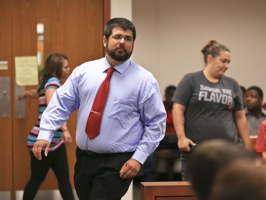 Matthew Heimbach during a 2017 court appearance.(Photo: Matt Stone/The C-J)