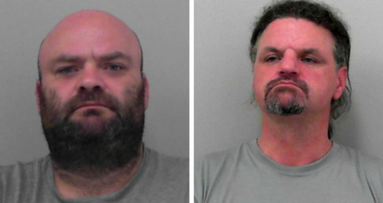 Michael Dommett (left) and Russell Oakey. Both have been jailed for life for murdering Bristol dad Andrew Groves. (Image: Avon and Somerset Constabulary)