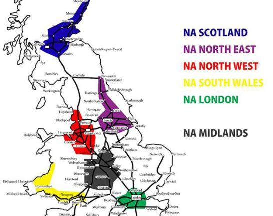 National Action's regional map