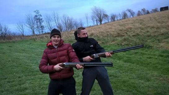 Grainger posed with guns with notorious criminal Liam Windas