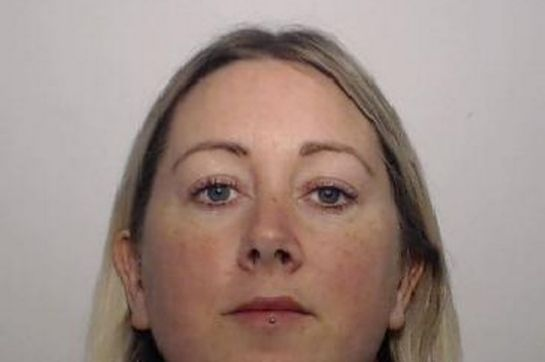 Samantha Turner, 36, has been jailed after she admitted trying to hand over the items when she went to hug prisoner Stephen Benson in the Salford prison